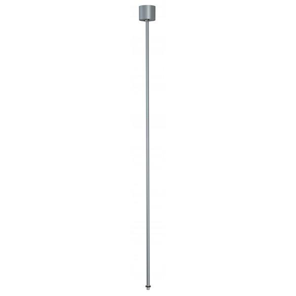 EUTRAC suspension rigide pour rail 3 allumages gris argent 120cm