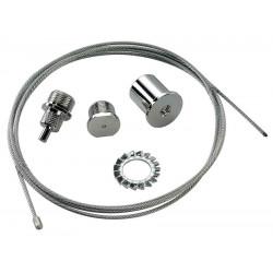 EUTRAC filin de suspension chrome 15m
