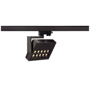 PROFUNO spot noir LED 3000K 30° adaptateur 3 all inclus