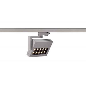 PROFUNO spot gris argent LED 3000K 60° adaptateur 3 all inclus