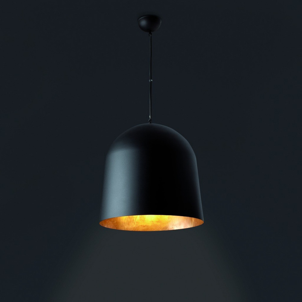 Suspension noire et or faro for Suspension luminaire noir et or