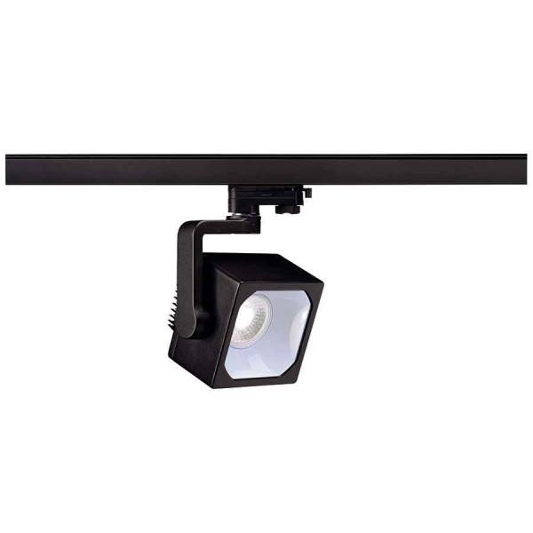 EURO CUBE spot noir LED 4000K 60° IRC 90 adaptateur 3 all inclus