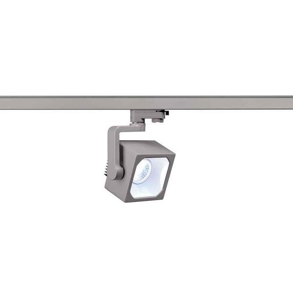 EURO CUBE spot gris argent LED 4000K 60° IRC 90 adaptateur 3 all inclus