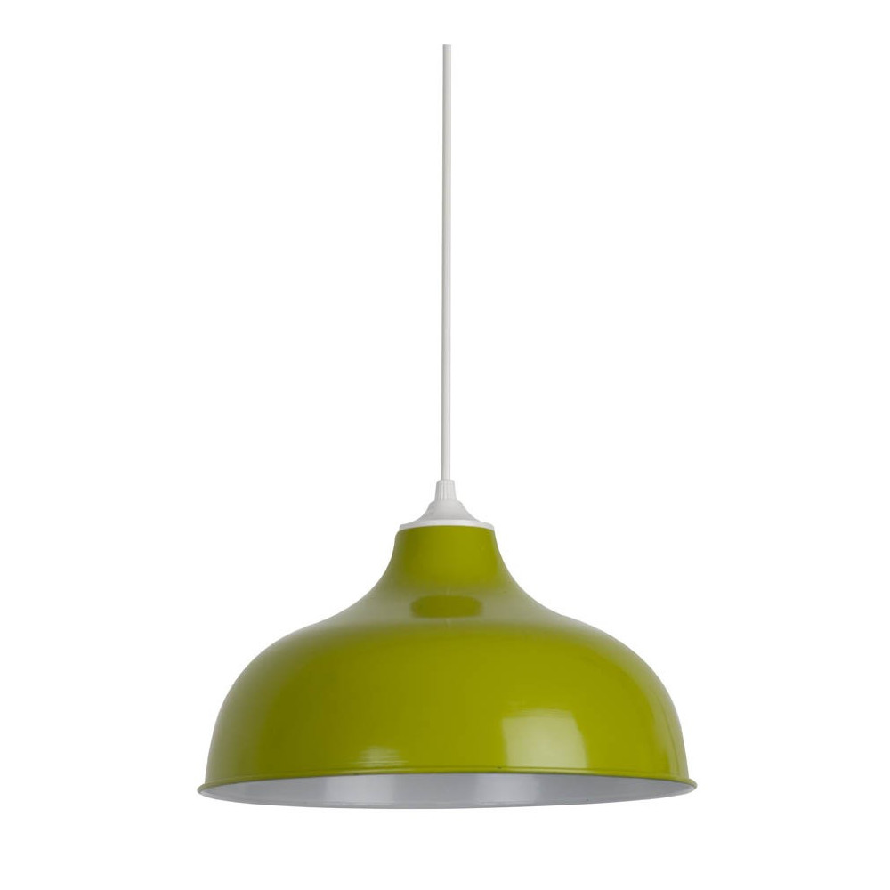 Suspension r tro verte en m tal suspension luminaire for Luminaire exterieur retro
