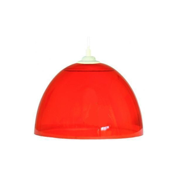 Suspension rouge cuisine maison design for Suspension luminaire rouge