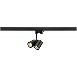 BIMA 2 spot noir 2x GU10 max 50W adaptateur 3 allumage inclus