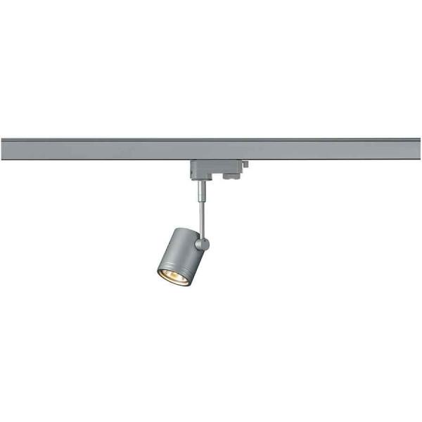 BIMA 1 spot gris argent GU10 max 50W adaptateur 3 allumages inclus