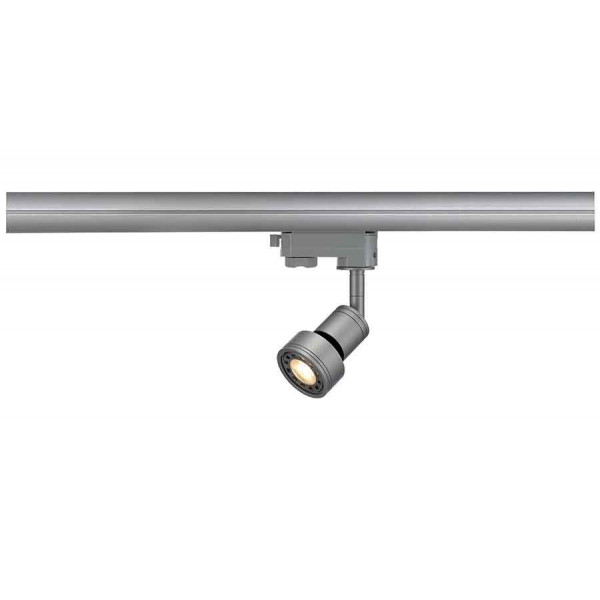 PURI spot gris argent GU10 max 50W adaptateur 3 allumages inclus