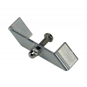 Support de fixation pour rail 1 allumage 230V à encastrer nickel mat 1 pièce