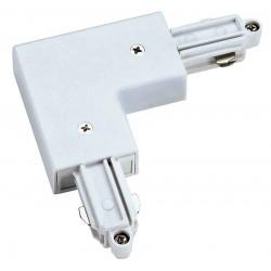 Connecteur 90° pour rail 1 allumage 230V blanc terre intérieure