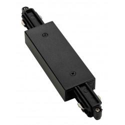 Connecteur droit pour rail 1 allumage 230V noir avec alimentation