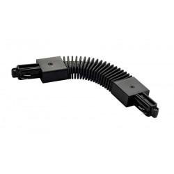 Connecteur flexible pour rail 1 allumage 230V noir