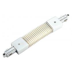 Connecteur flexible pour rail 1 allumage 230V blanc