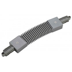 Connecteur flexible pour rail 1 allumage 230V gris argent