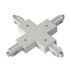 Connecteur en X pour rail 1 allumage 230V blanc
