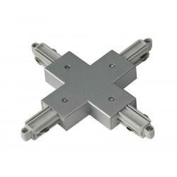 Connecteur en X pour rail 1 allumage 230V gris argent