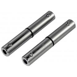 Connecteur isolé pour câble tendu chrome 2 pièces 6 cm
