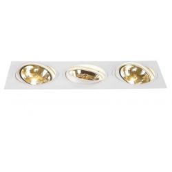 TRIA 3 QRB111 encastré rect blanc max 3x75W clips ressorts