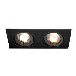 TRIA 2 GU10 encastré rectangulaire noir mat max 2x 50W clips ressorts