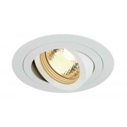 TRIA GU10 ROND encastré blanc mat max 50W clips ressorts