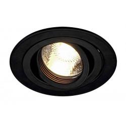 TRIA GU10 ROND encastré noir mat max 50W clips ressorts