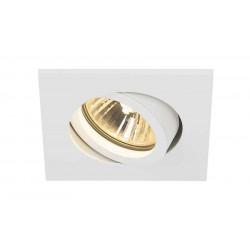 TRIA XL GU10 carré encastré blanc max 50W clips ressorts