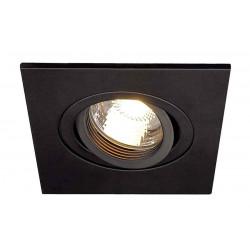 TRIA XL GU10 carré encastré noir max 50W clips ressorts