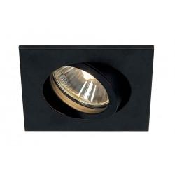 TRIA 68 GU10 CARRE encastré noir mat max 50W clips ressorts