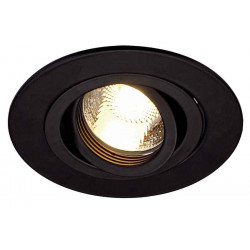 TRIA XL GU10 rond encastré noir max 50W clips ressorts
