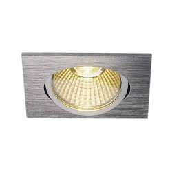 KIT TRIA 68 LED carré alu brossé 9W 3000K 38° alim inclus