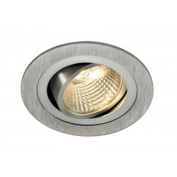 KIT TRIA LED DL ROND alu brossé 6W 2700K 38°