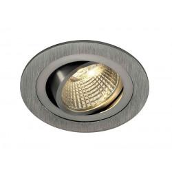 KIT TRIA LED DL ROND alu brossé 6W 3000K 38° clips ressorts