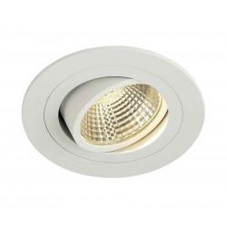 KIT TRIA LED DL ROND blanc mat 6W 3000K 38° clips ressorts