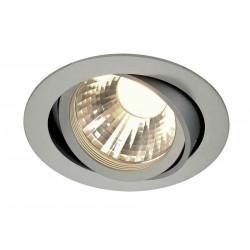 TRIA LED DISK encastré rond gris argent 2700K 60° clips ressorts