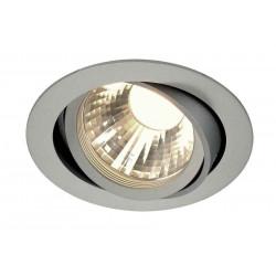TRIA LED DISK encastré rond gris argent 4000K 60° clips ressorts