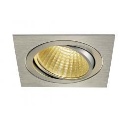 KIT TRIA LED carré alu brossé 25W 2700K 30° alim et clips ressorts inclus