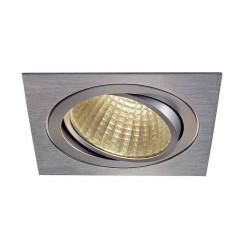 KIT TRIA LED carré alu brossé 25W 3000K 30° alim et clips ressorts inclus