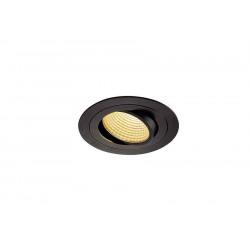KIT TRIA LED rond noir 12W 2700K 38° alim et clips ressorts inclus