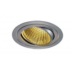 KIT TRIA LED rond alu brossé 25W 2700K 30° alim et clips ressorts inclus
