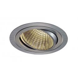 KIT TRIA LED rond alu brossé 25W 3000K 30° alim et clips ressorts inclus