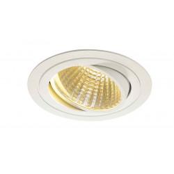KIT TRIA LED rond blanc 25W 2700K 30° alim et clips ressorts inclus