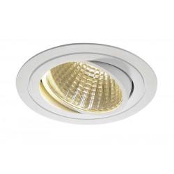 KIT TRIA LED rond blanc 25W 3000K 30° alim et clips ressorts inclus