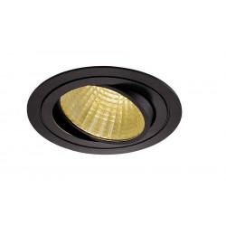 KIT TRIA LED rond noir 25W 2700K 30° alim et clips ressorts inclus