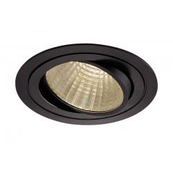 KIT TRIA LED rond noir 25W 3000K 30° alim et clips ressorts inclus