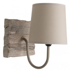 Applique carrée en bois de récup
