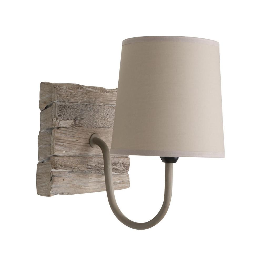 Applique carrée en bois de récup. luminaire bois.