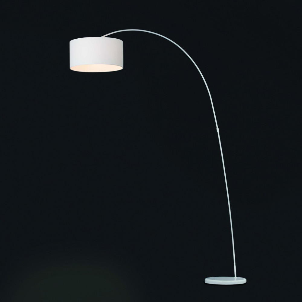 Lampadaire arc blanc de salon - Lampe de salon arc ...