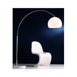 Lampadaire arc blanc socle marbre