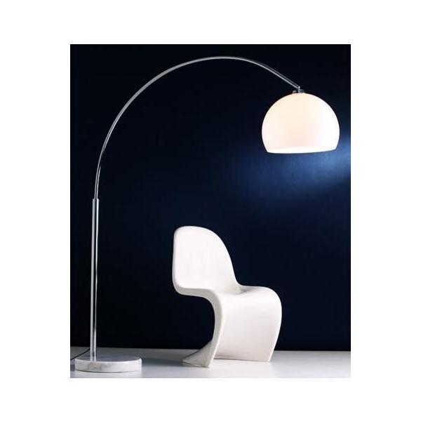 Lampadaire arc blanc socle marbre - Lampadaire arc blanc ...