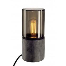 LISENNE-O lampe à poser ronde E27 max 23W interrupteur et fiche inclus
